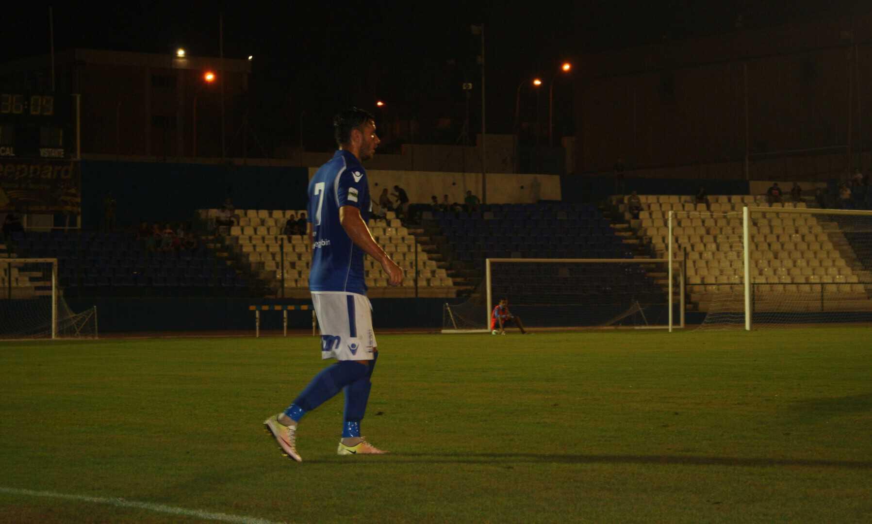 Rubén Sánchez, en un momento del partido frente al Granada 'B'.