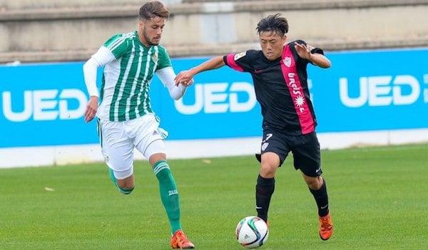 El extremo surcoreano, en un partido con el filial almeriense